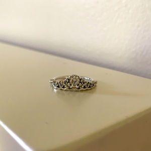 Pandora ring- Fairy Tale Tiara Wishbone Ring- 5.2